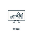 track icon line style element from loyalty vector image vector image