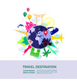 travel around the world vector image