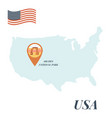 usa map arches national park pin travel concept vector image