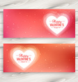 valentines day love banners vector image vector image
