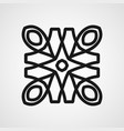 vintage ornamental mandala vector image vector image