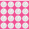 White flowers on pink background vector image vector image