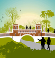 Women walk in the park vector image vector image