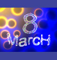 8 march womens day abstract made of low poly vector image