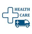 health care ambulance car icon vector image