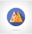 Pizza menu flat color design icon vector image