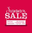 Summer Sale banner Vintage design vector image