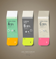 Colorful origami label paper cut price tag collect vector image
