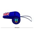 A Beautiful Blue Whistle of Montserrat Flag vector image