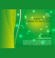 abstract colorful background with wave in green vector image vector image
