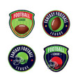 american fantasy football league badges vector image vector image