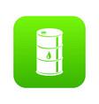 barrel oil icon green vector image