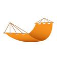beach hammock icon realistic style vector image