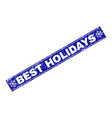 best holidays scratched rectangle stamp seal with vector image vector image