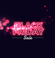 black friday sale neon glowing background vector image vector image