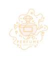 bottle perfume linear image perfume vector image