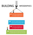 building of infographics template construction vector image vector image