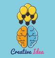 bulbs set creative ideas concept vector image vector image