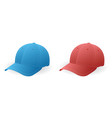 caps blue and red vector image vector image