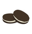 chocolate sandwich cookies pattern cute vector image