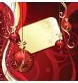 Christmas label background vector image vector image