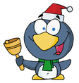 Christmas Penguin Bell Ringer vector image vector image