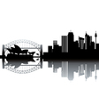 Cityscape silhouette vector | Price: 1 Credit (USD $1)