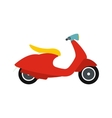 Classic scooter icon flat style vector image vector image