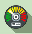 colorful speedometer icon flat style vector image vector image