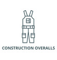 construction overalls line icon vector image vector image