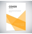 Cover design with abstract colorful geometry on vector image vector image