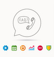 faq service icon support speech bubble sign vector image vector image