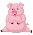 Fat pig cartoon vector image vector image