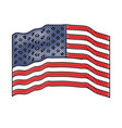 flag united states of america waving in colored vector image vector image