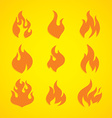flaming fire theme vector image