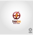 flash gear - auto speed service logo template vector image
