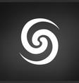 flower swirl line logo modern stylish identity vector image