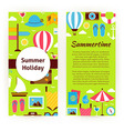 Flyer Template of Flat Design Summer Holiday vector image