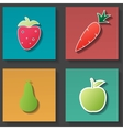 food icons set vector image