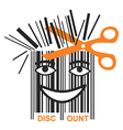 Funny BAR code discount vector image vector image