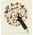 Ginkgo leaf concept pencil tree vector image vector image