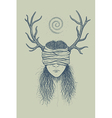 Girl with horns and a blindfold vector image