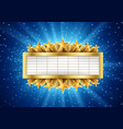 golden metallic banner with supernova vector image