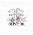 Hand drawn Olive oil label vector image vector image