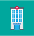 hospital building medical icon flat design vector image vector image
