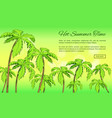 hot summer time banner with inscription vector image vector image