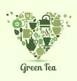 i love green tea vector image vector image