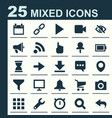 interface icons set collection of camcorder map vector image vector image