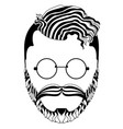 isolated hipsterman avatar vector image vector image