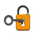 key lock open vector image vector image
